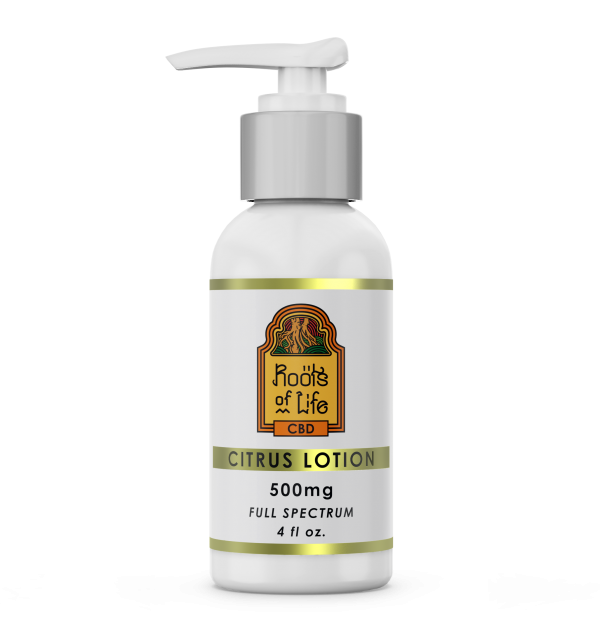 Roots of Life CBD Citrus Lotion 500mg