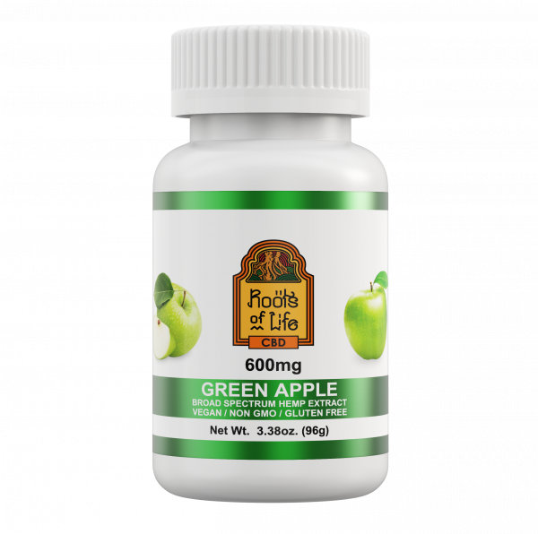 Roots of Life Green Apple 600mg Gummies